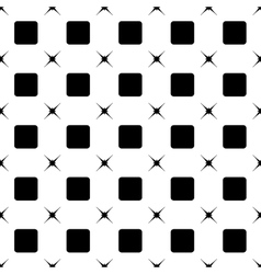 Square and star black seamless pattern vector image vector image