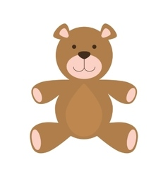 Teddy bear icon Toy design graphic vector image