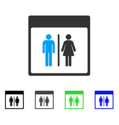 Toilet persons calendar page flat icon vector