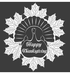 turkey bird vector image