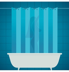 woman in bathroom vector image vector image