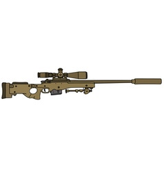 Sand sniper rifle vector