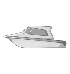 Speed boat icon gray monochrome style vector