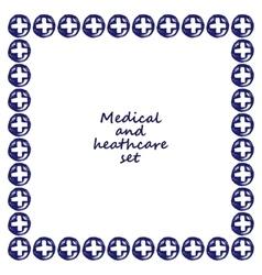 medicine doodle frame vector image