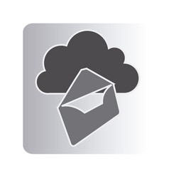 Cloud letter network icon vector