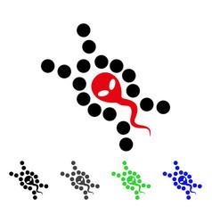 Alien sperm replication flat icon vector