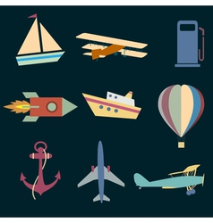 Icons of transport vector
