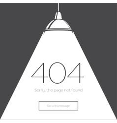 404 error page in retro-style vector