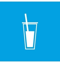 Drink icon white vector