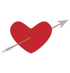 heart arrow vector image