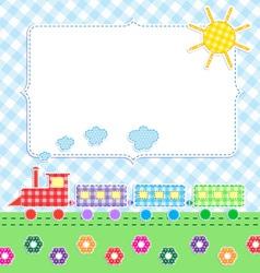 Frame with cartoon train vector