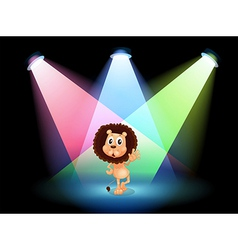 A lion in the spotlight vector