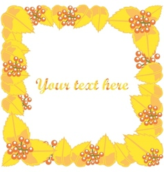 Autumn leaves frame with text vector image vector image