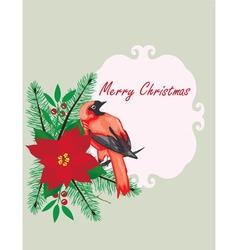 Bird frame christmas vector