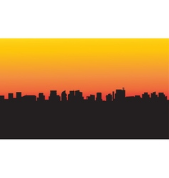 Collection silhouette city vector