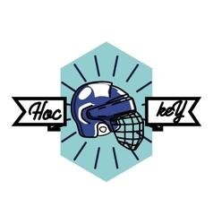 Color vintage hockey emblem vector