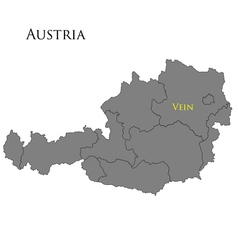 Contour map of austria vector