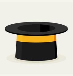 cylinder gentleman hat vector image vector image