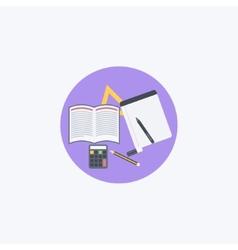 Flat school vector image
