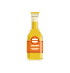 fresh orange juice or lemonade in glass bottle vector image