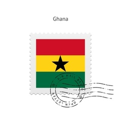 Ghana flag postage stamp vector
