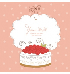 greeting card with cute cupcak vector image vector image