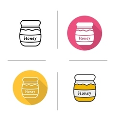 Honey jar icons vector