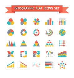 Icons Set of Infographic Concept vector image vector image