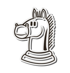 Knight chess piece icon vector