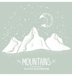mountains silhouette vector image vector image