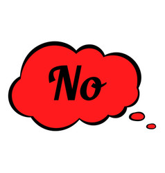 No in cloud icon cartoon vector