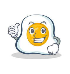 Proud fried egg character cartoon vector