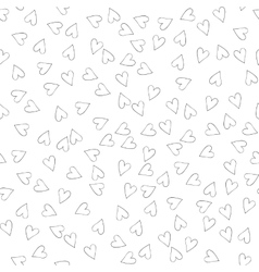 Seamless pattern with hearts for web print vector image vector image