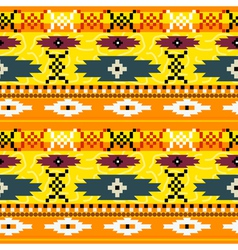 Seamless texture with Mexican pattern vector image