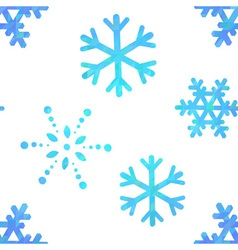 Snowflakes decorative seamless pattern vector image vector image