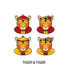 Tiger Chinese vector image vector image