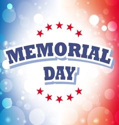 Us memorial day banner 2 vector