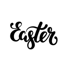 Easter hand drawn calligraphy and brush pen vector