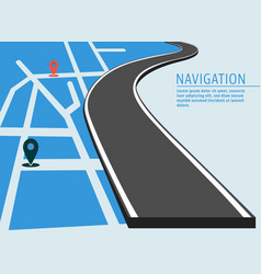 Map location banner vector