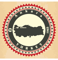 Vintage label-sticker cards of turkey vector