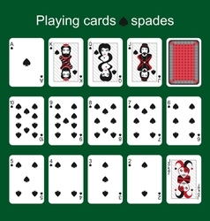 Playing cards Spades vector image
