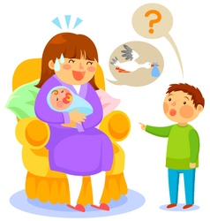 where do babies come from vector image