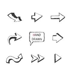 Hand Drawn arrows setPart II vector image