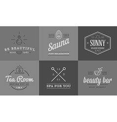 Set of spa beauty yoga sport elements can be used vector