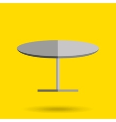 Round table design vector
