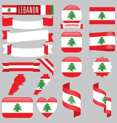 Lebanon flags vector