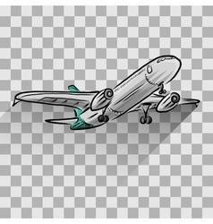 Airplane isolated on transparent vector image vector image