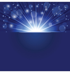blue ray background vector image vector image