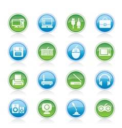 computer equipment and periphery icons vector image