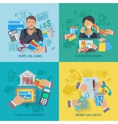 Credit life flat vector
